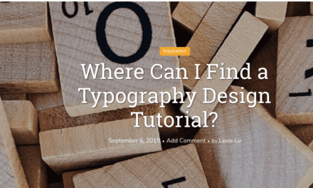 Where Can I Find a Typography Design Tutorial?