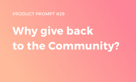 Why give back to the Community?