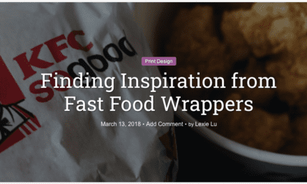 Finding Inspiration from Fast Food Wrappers