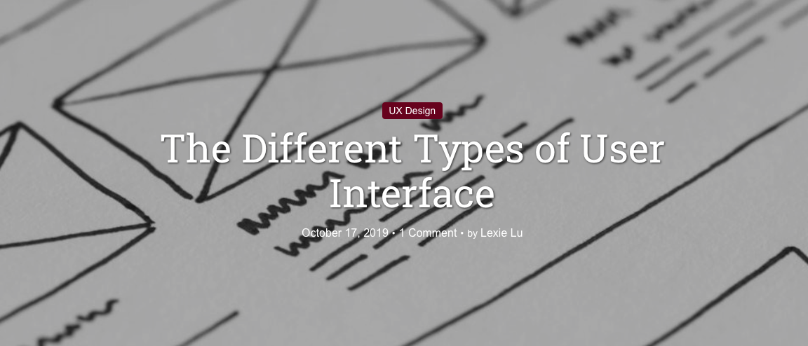 The Different Types of User Interface
