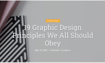 19 Graphic Design Principles We All Should Obey