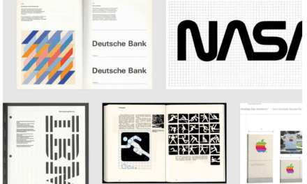 Iconic brand guidelines and logo manuals from 60s, 70s and 80s