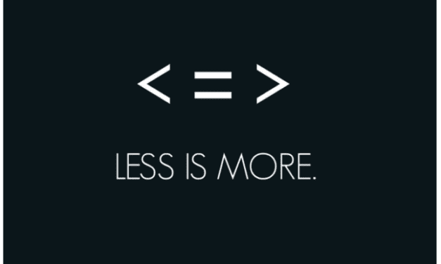 To add is expected, to subtract is design