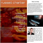 Video Art Today: A collection of Videoart from the permanent collection of Galerie Chartier