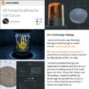 3D Printed Scaffolds for Cell Culture