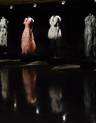 Amy Karle art installation garments fashion artwork design at FILE museum gallery