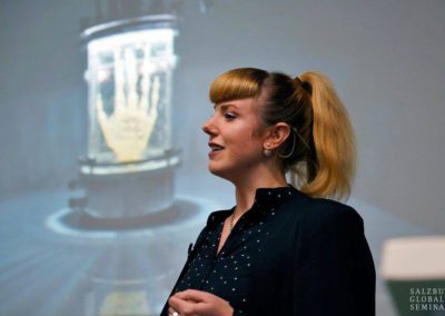 Artist Amy Karle opening keynote speaker photo credit Salzburg Global Seminar Herman Seidl