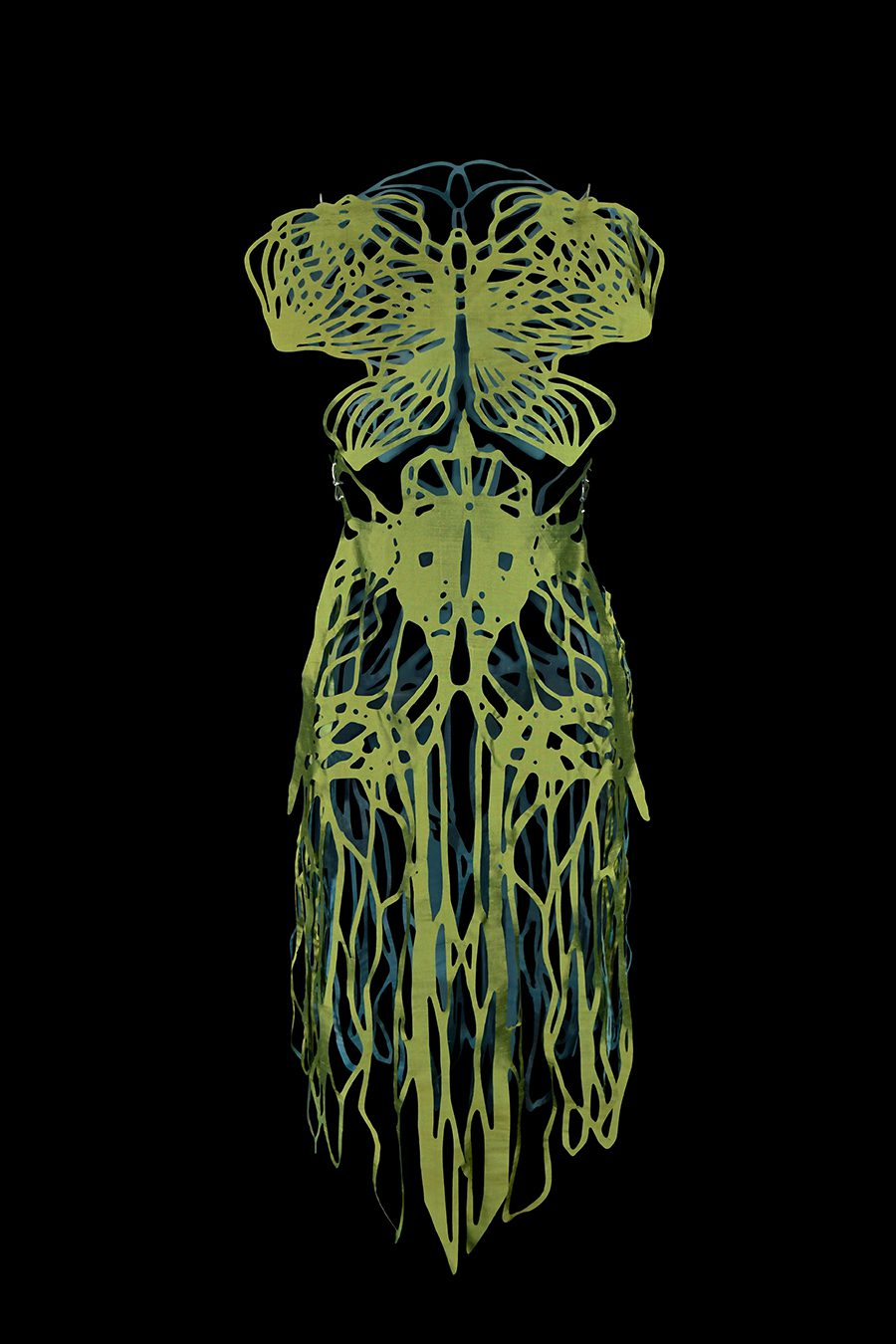 2017-Amy-Karle-Internal-Collection-green-silk-dress-based-on-ligaments-and-tendons01