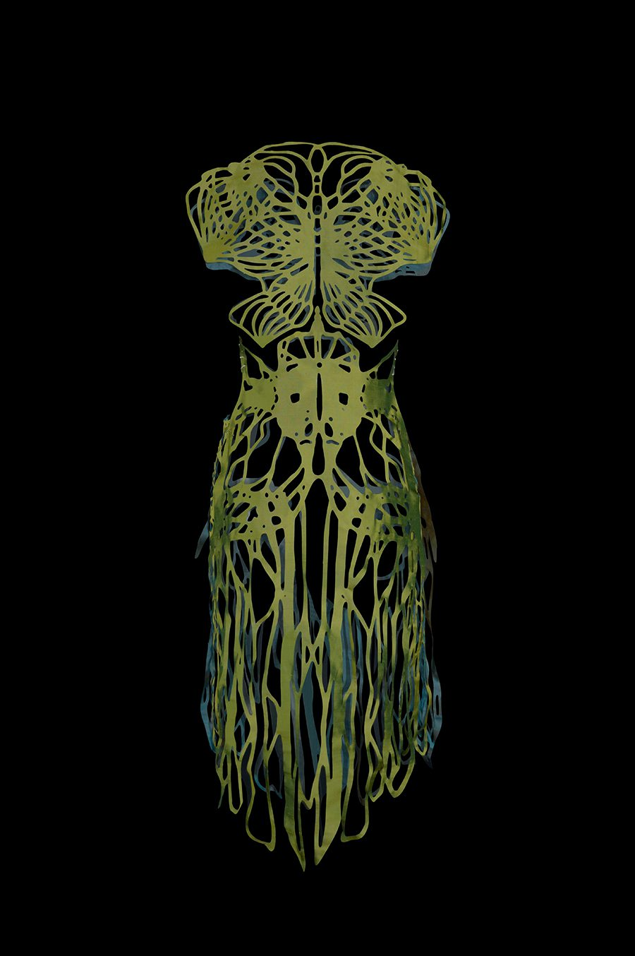 2017-Amy-Karle-Internal-Collection-green-silk-dress-based-on-ligaments-and-tendons02