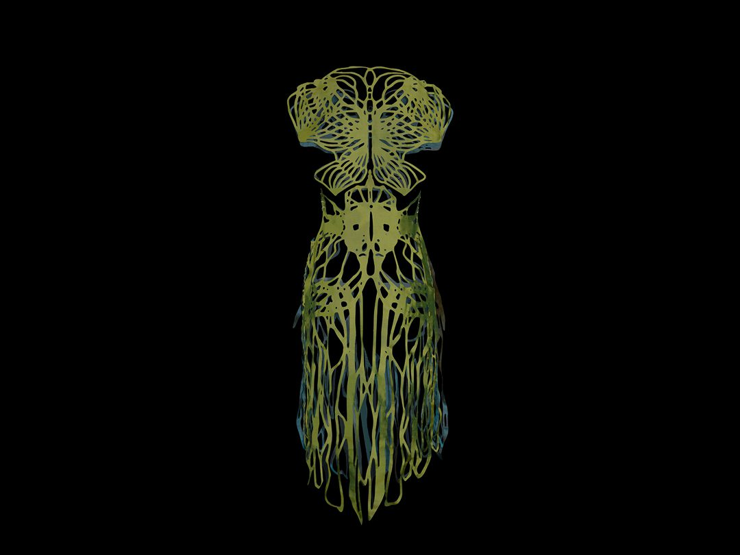2017-Amy-Karle-Internal-Collection-green-silk-dress-based-on-ligaments-and-tendons02_THUMB