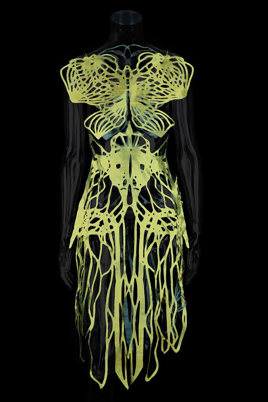 2017-Amy-Karle-Internal-Collection-green-silk-dress-based-on-ligaments-and-tendons03