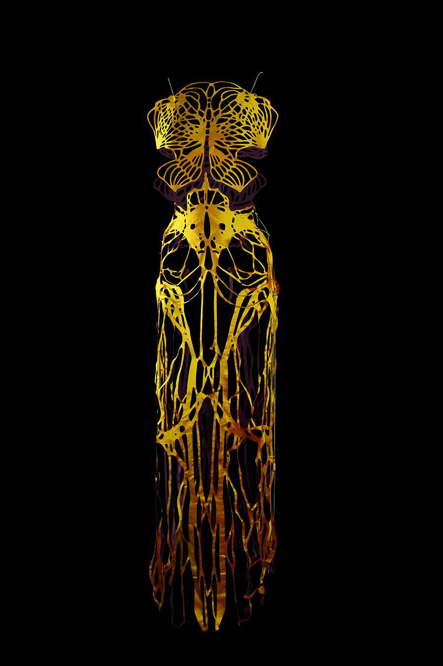 2017-Amy-Karle-Internal-Collection-yellow-silk-dress-based-on-ligaments-02