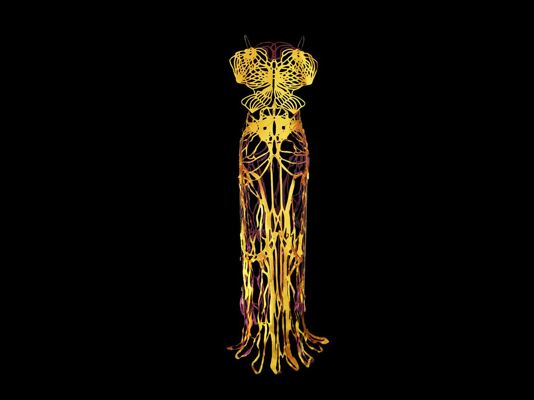 2017-Amy-Karle-Internal-Collection-yellow-silk-dress-based-on-ligaments-03_THUMBS
