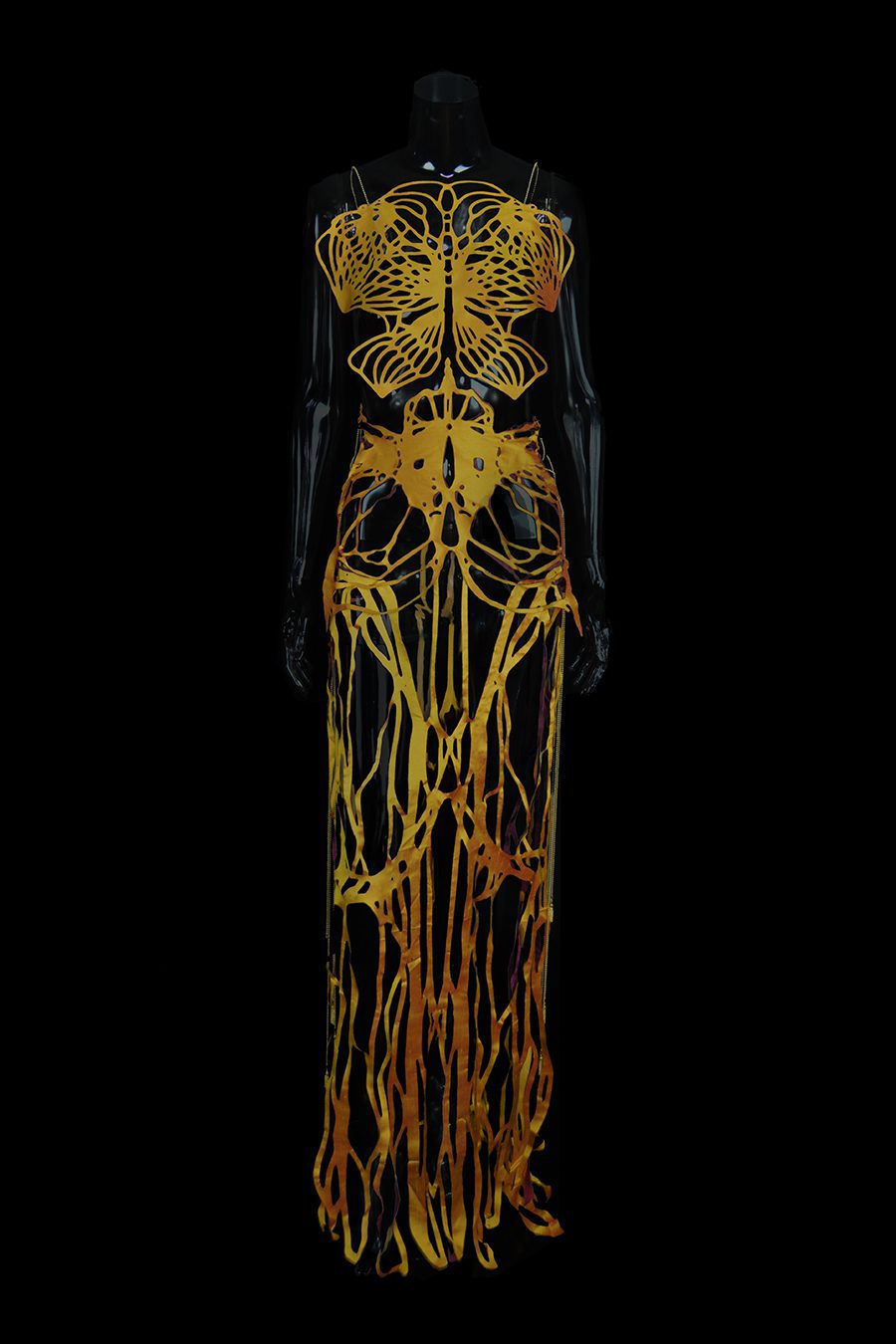 2017-Amy-Karle-Internal-Collection-yellow-silk-dress-based-on-ligaments-04