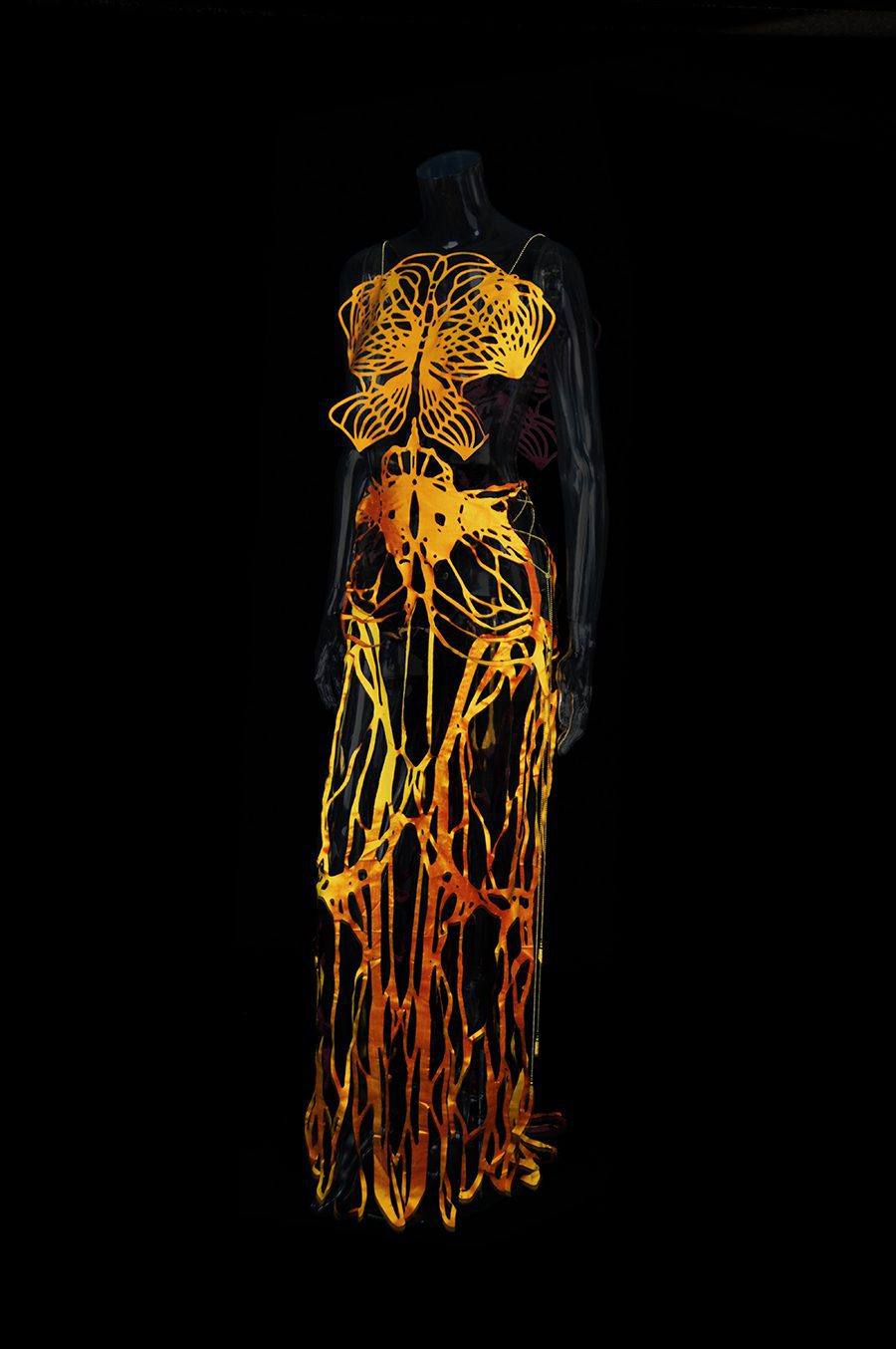 2017-Amy-Karle-Internal-Collection-yellow-silk-dress-based-on-ligaments-05